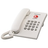 PANASONIC Corded Phone [KX-TS505MX] - White - Corded Phone
